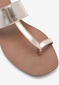 Next - T-bar sandals - gold - 3