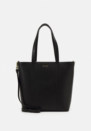 KATNESS SAFFIANO BAR DETAIL MEDIUM TOTE - Håndtasker - black