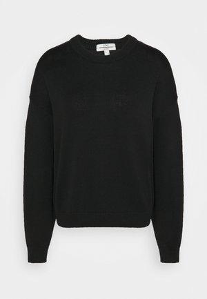 CREW NECK - Strikkegenser - black