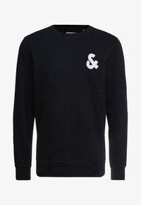 Jack & Jones - JJECHEST LOGO CREW NECK - Sweatshirt - black - 3