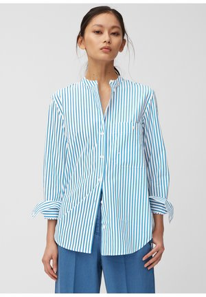 STAND UP  - Button-down blouse - white/blue