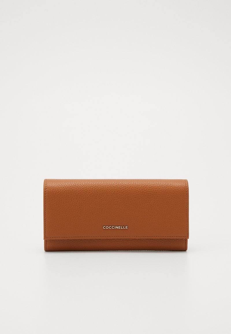 Coccinelle - SOFT CONTINENTAL - Lommebok - caramel