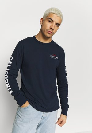 TECH LOGO  - Long sleeved top - navy