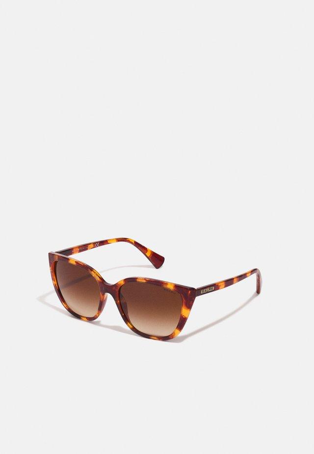 Sonnenbrille - shiny sponged havana brown