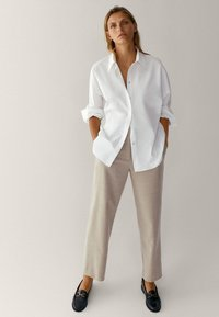 Massimo Dutti - Pantalon classique - beige - 1