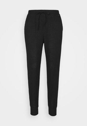 COZY LOUNGE JOGGER - Pyjama bottoms - black