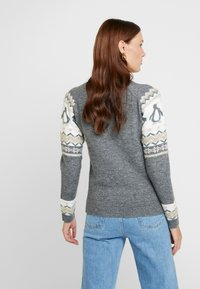 Dorothy Perkins - FAIRISLE TINSEL PENGUIN - Jumper - grey marl - 2
