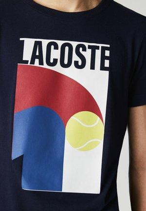 Print T-shirt - azul marino