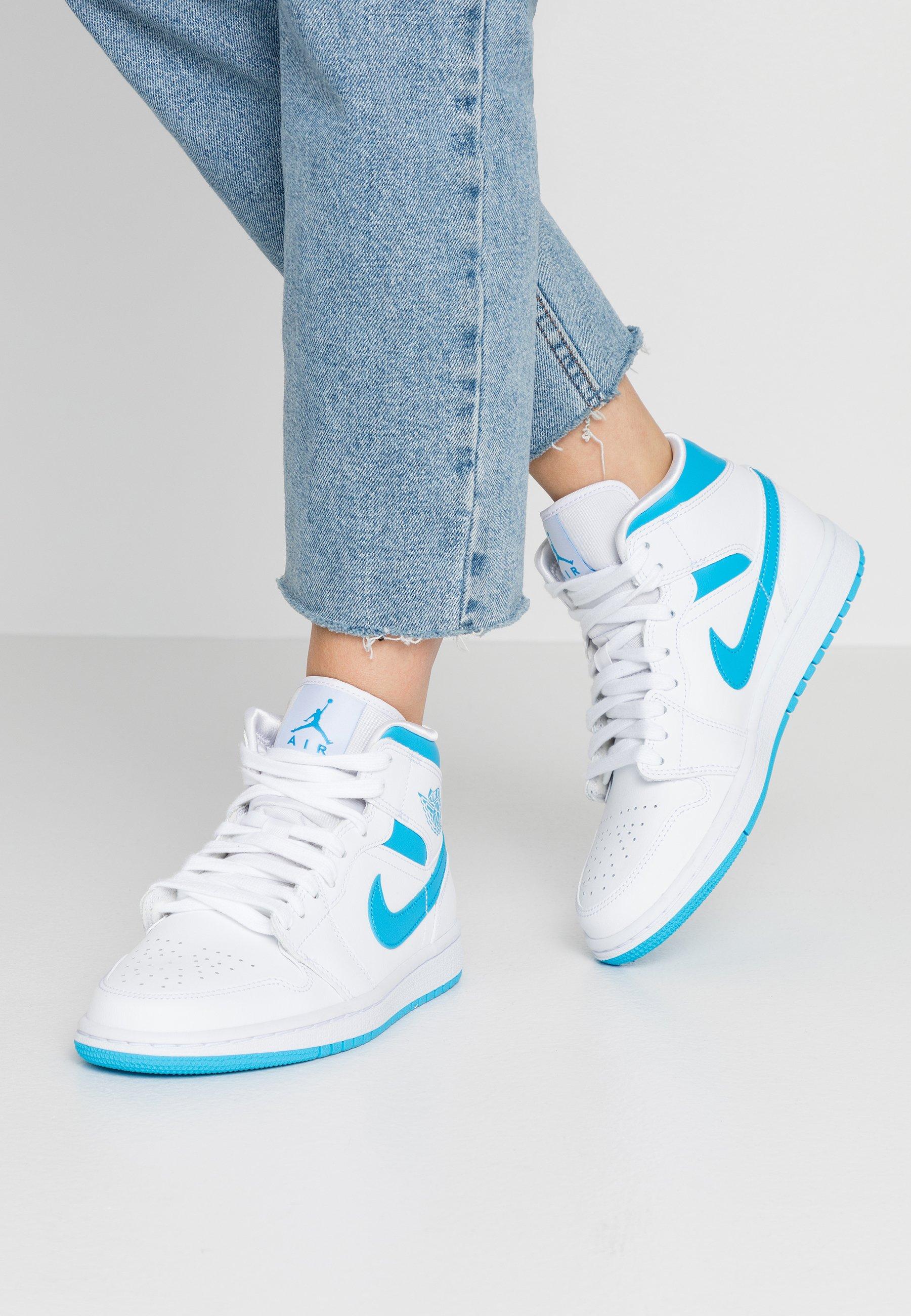 AIR 1 MID - Sneakers alte - white/dark powder blue