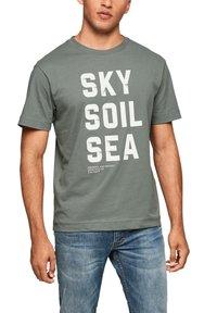 s.Oliver - Print T-shirt - petrol - 4