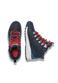 The North Face - W BACK-TO-BERKELEY MID WP - Hiking shoes - blue opal/hibiscus - 1
