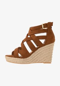 s.Oliver - High heeled sandals - cognac - 1