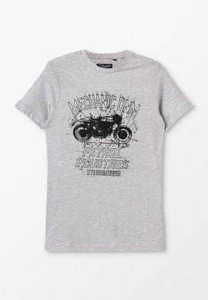 T-shirt print - light grey melee