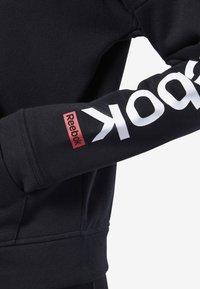 Reebok - TRAINING ESSENTIALS FULL ZIP SWEATSHIRT - Zip-up hoodie - black - 3