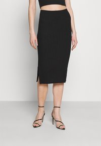 Missguided - SIDE SPLIT SKIRT - Pencil skirt - black - 0