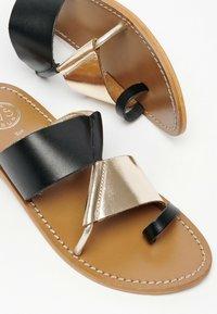 White Sun - COLIN  - T-bar sandals - black - 3