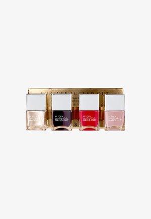 FOREVER LUCKED OUT - Nagelverzorgingsset - red/gold shimmer/deep aubergine/dusky pink