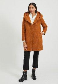 Vila - Classic coat - pumpkin spice - 1