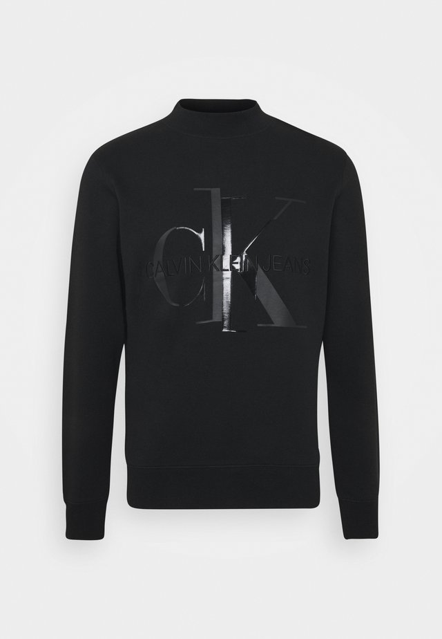 SHINY MONOGRAM CREW NECK UNISEX - Sweatshirt - black