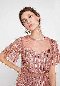 Lace & Beads - MEGHAN MAXI - Společenské šaty - dusty pink - 4