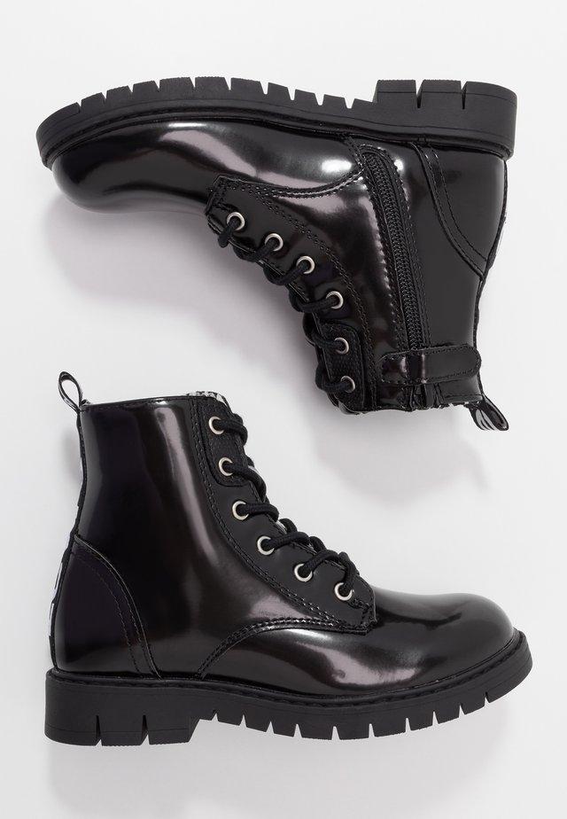 PASADENA - Bottines à lacets - black