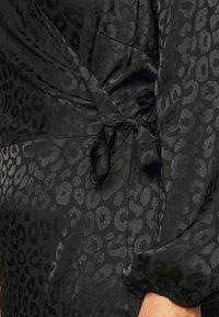 ONLY Carmakoma - CARDAMINA WRAP KNEE DRESS - Day dress - black - 6