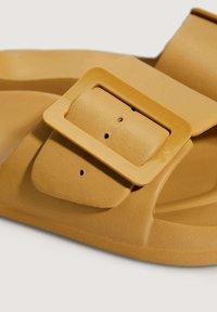 OYSHO - Slippers - mustard yellow - 5