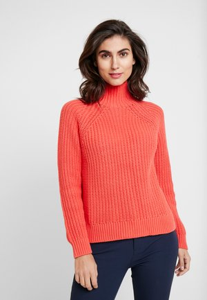 SHAKER TNECK - Sweter - fire coral