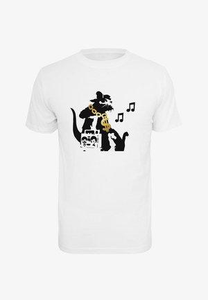 BANKSY HIPHOP RAT  - T-shirt imprimé - white
