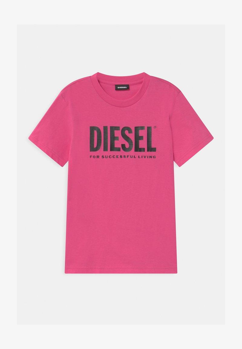 Diesel - JUSTLOGO MAGLIETTA - Print T-shirt - deep rose