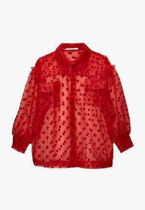 ORGANZAMIT TUPFEN - Button-down blouse - red