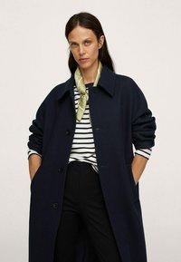 Mango - Classic coat - donkermarine - 2