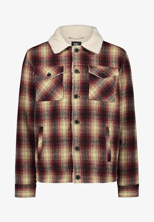 WOOL CHECK - Soft shell jacket - haute red