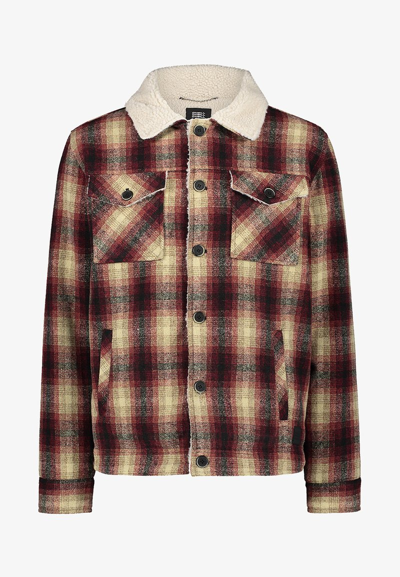 O'Neill - WOOL CHECK - Soft shell jacket - haute red