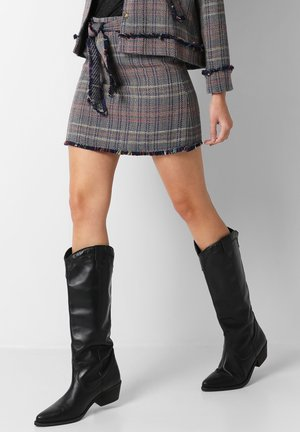 TWEED  - A-line skirt - multicolor