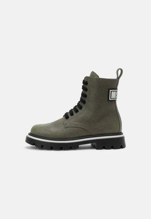 UNISEX - Lace-up ankle boots - khaki