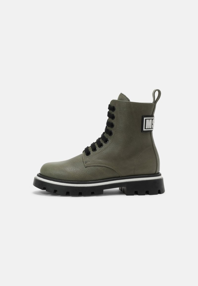 MSGM - UNISEX - Lace-up ankle boots - khaki