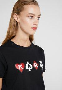 KARL LAGERFELD - Print T-shirt - black - 4