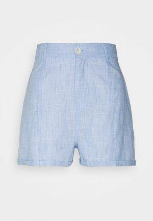 CHAMBRAY - Shorts - blue