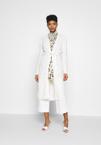JDYGURLI BELT CARDIGAN - Cardigan - off-white