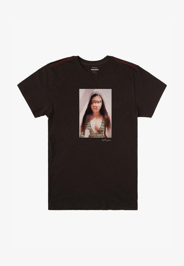 ED TEMPLETON DEANNA  - T-shirt imprimé - pirate black