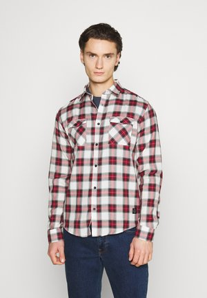 CHECK - Shirt - dark red