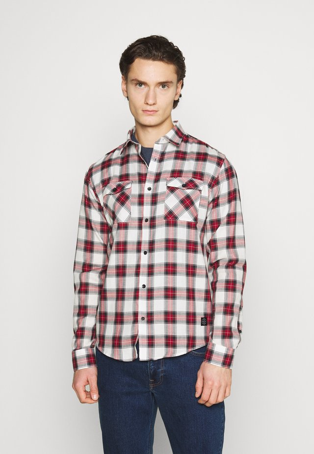 CHECK - Camisa - dark red