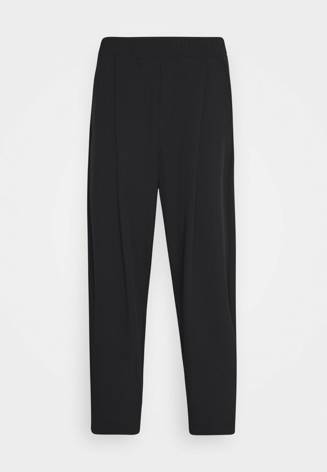 UNISEX NEO CARROT PANTS - Tygbyxor - black