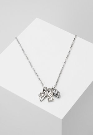 SUNBEAM CLUSTER NECKLACE - Collar - silver-coloured