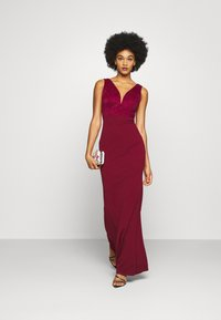 WAL G. - SLEEVELESS V NECK DRESS WITH SIDES - Occasion wear - wine - 1