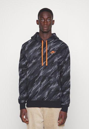 HOODIE - Sweatshirt - black/orange