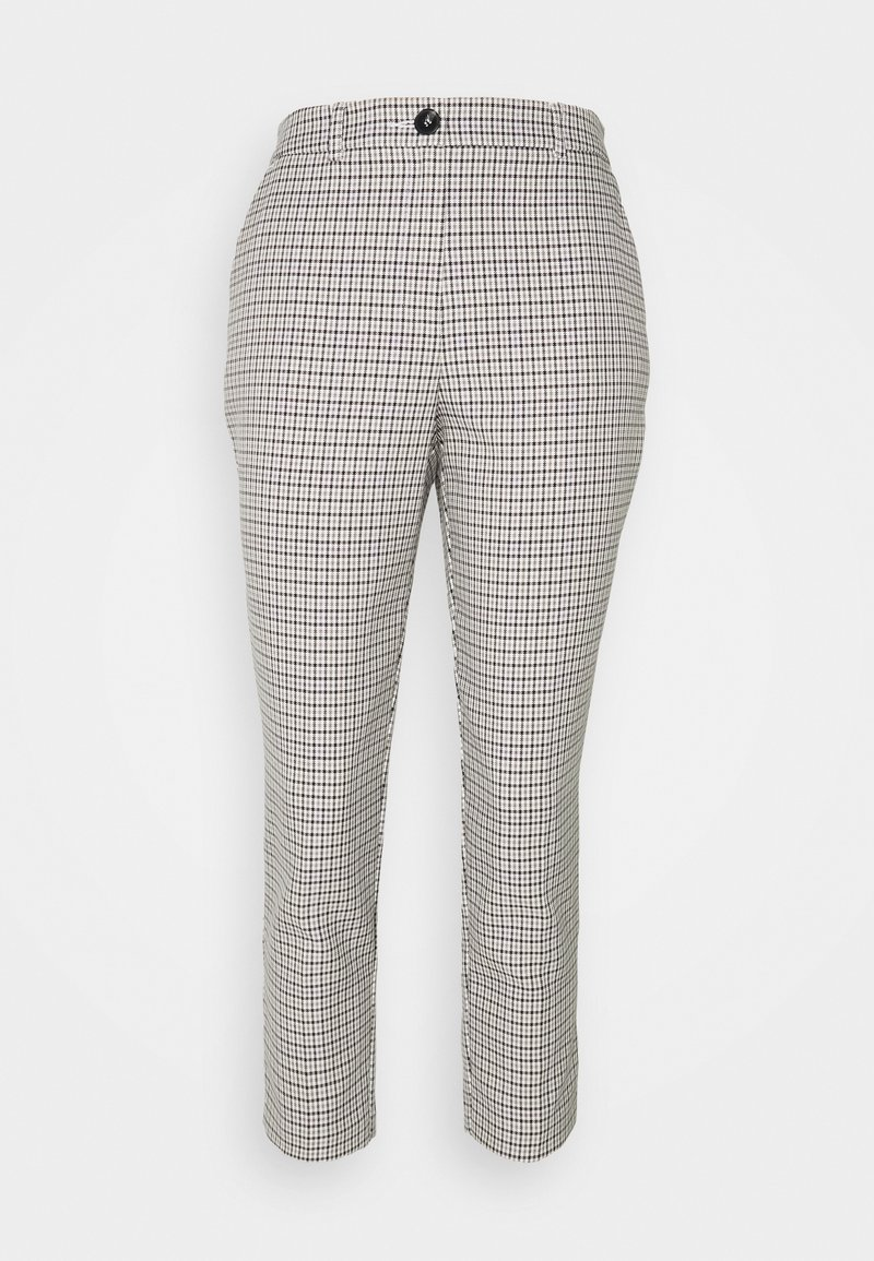 Dorothy Perkins Petite - CHECK ELASTIC BACK NAPLES ANKLE GRAZER - Trousers - multi coloured