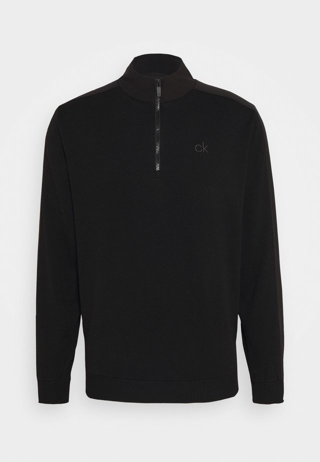 BRUCE HALF ZIP - Sweater - black