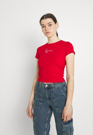 SMALL SIGNATURE TEE - T-shirts med print - red